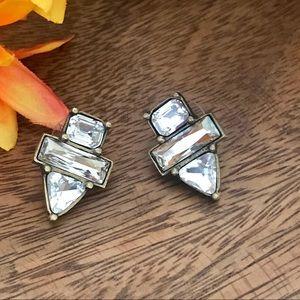 Silpada KR Collection Crystal Pierced Earrings